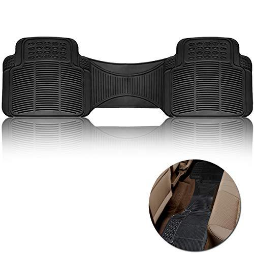 Vaygway Car Floor Mat Runner – Rubber Rear Floor Mat Liner – Black Back Seat Mat Liner - Auto Trimmalbe Universal Fit Mat
