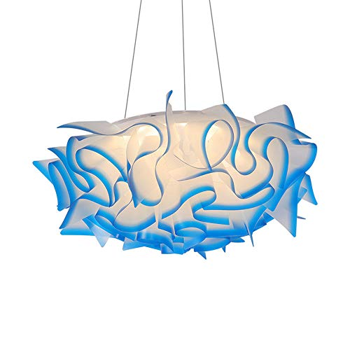 YQYL Inicio llevó la iluminación de Origami lámpara de Techo de castaño de acrílico Minimalista nórdico Italiana Flor Post-Moderna lámpara Colgante,Púrpura