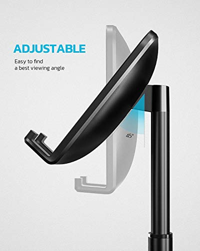 Proffisy Phone Stand Height Angle Adjustable Cell Phone Stand Phone Holder for Desk Compatible with OnePlus Redmi Samsung Mi Oppo Vivo iPhone12 Mini 11 Pro Xs Xr X 8 7 Plus, All Smartphones (Black)