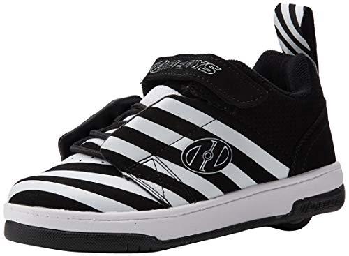 Heelys Unisex-Kinder Rift (he100626) Sneaker, Schwarz (Black/White/Stripe Black/White/Stripe), 33 EU