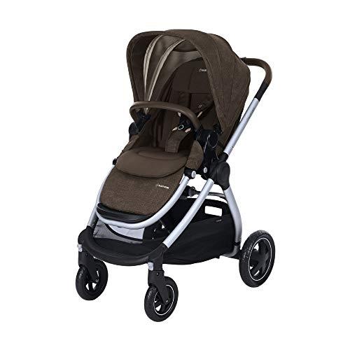 Maxi Cosi Adorra Kombi Kinderwagen, mit Liegeposition, großem Einkaufskorb, einhändigem Faltmechanismus und geringem Gewicht, nutzbar ab Geburt bis ca. 3,5 Jahre, 0-15 kg, Nomad Brown (braun)