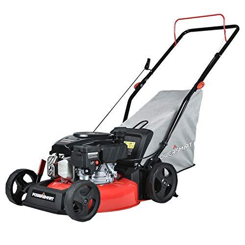 PowerSmart Lawn Mower, 17-inch & 127CC, Homeuse Gas Powered Push Lawn Mower...