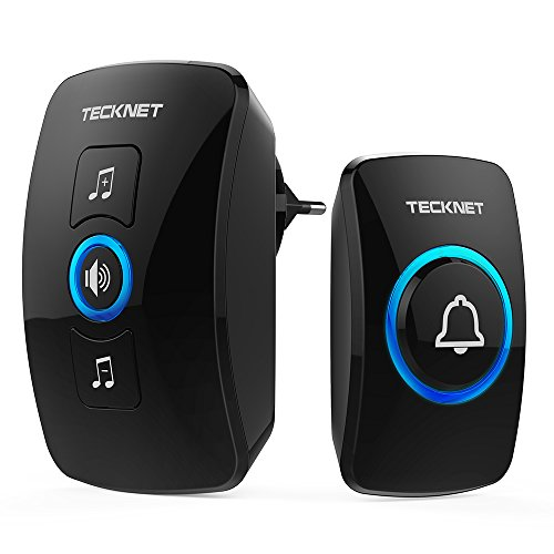 TECKNET Timbre inalámbrico,Timbre de Puerta con Indicadores LED, Resistente al Agua, 32 Melodías,...
