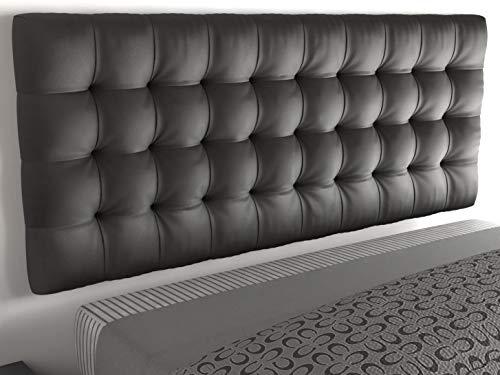 LA WEB DEL COLCHON - Cabecero tapizado Manhattan para Cama de 150 (160 x 70 cms) Gris Ceniza | Cama Juvenil | Cama Matrimonio | Cabezal Cama |