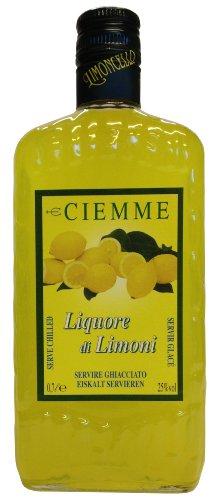 Limoncello Distilleria Ciemme, Liquore di Limoni 0,7 L, Italienischer Zitronenlikör 25% Vol.