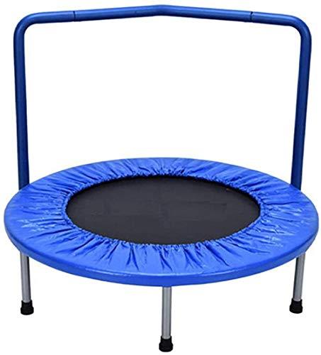 36 inch mini-trampoline voor kinderen van 3-10 met handgreep en veiligheid Gevoerde hoes Bungee Rebounder Draagbare trampolines voor kinderen Oefening binnen/buiten(Upgrade)