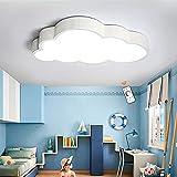 Plafoniera Cloud Moderna Lampada Da Soffitto Dimmerabile LED Cartoon Lampada Per Bambini Lampadario Acrilico Ragazzi Ragazze Camera Da Letto Illuminazione Cameretta Soggiorno,Dimmable,50cm