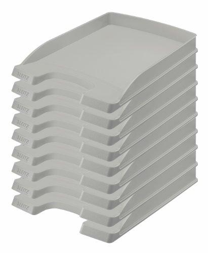 LEITZ brievenbakje Plus plat, DIN A4, polystyrol, grijs