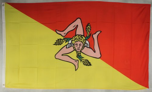 Flagge Fahne ca. 90x150 cm : Sizilien Italien Sizilienflagge