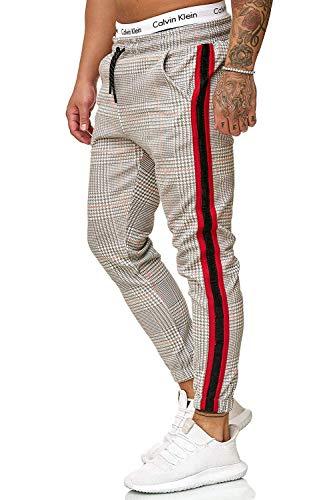 Yidarton Herren Jogginghose Stripe Sport Fitness Training Sweatpants Streetwear Slim Fit Freizeithose Jogger Hose (X-Large, Khaki)