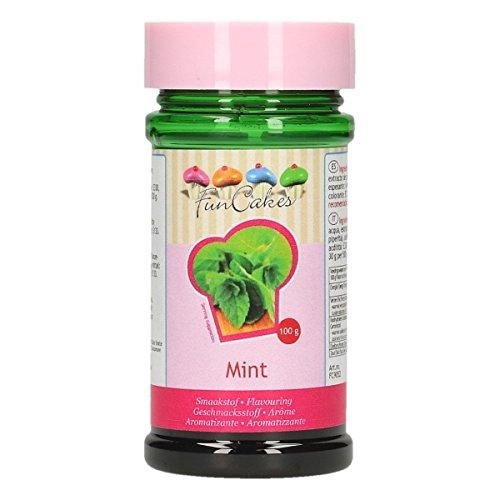 FunCakes Aroma de Menta Verde de FunCakes: Aromas Alimentarios, Gran Sabor, Perfecto para Decorar Pasteles, Adecuado para Masas y Rellenos. 100 g