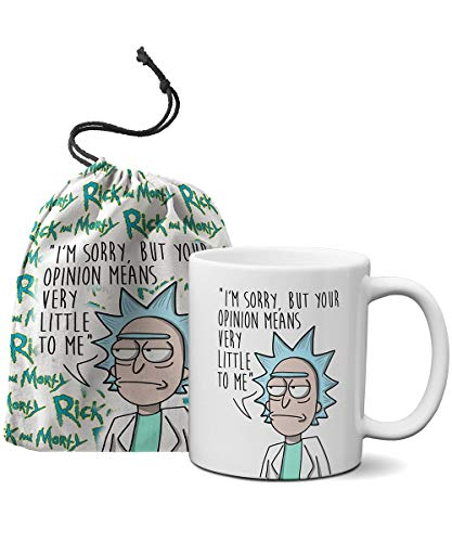 Caneca Rick and Morty + Saquinho