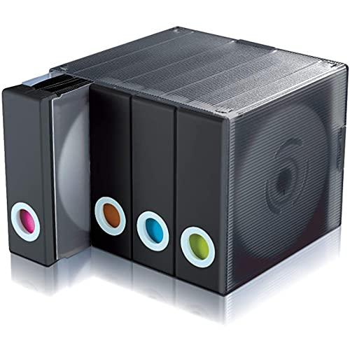 CONSUNDYTT Caja de Almacenamiento de DVD - Caja de CD de Gran Capacidad para niños Álbum Que Ahorra Espacio Organizar el gabinete en el hogar Tiene Capacidad para 96 Discos