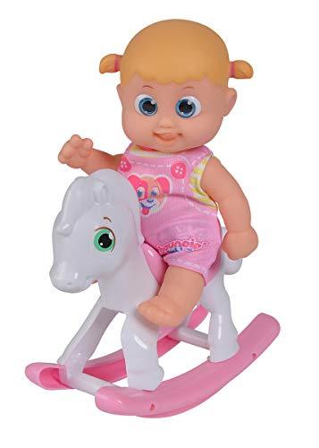 Simba 105143326 Bouncin Babies Little Bonny mit Schaukelpferd, One Size