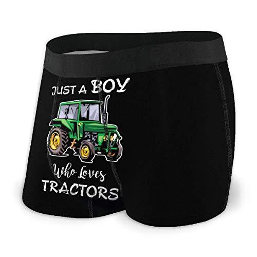 Garçon Qui Aime Les tracteurs Hommes 'No Ride Up Compression Boxer Brief Comfort Flex Waistband Underwear Size XL