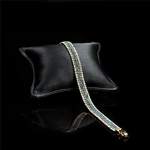 Pulsera Mujer Pulsera De Diamantes De Imitación Blanca Verde De Estilo Romano A La Moda, Brazalete Brillante con Encanto Elegante para Niñas, Joyería De Compromiso para Fiestas, Regalos De N