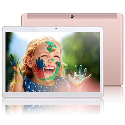 QIMAOO 10.1 Inch Tablet Android 10, Octa-core 4GB RAM 64GB ROM, Google GMS Certified, 5G Wi-Fi, 4G LTE Dual SIM card Slots, Cameras, GPS, HD Glass Screen, Metal Housing, Type-C Charging- Q10 Plus
