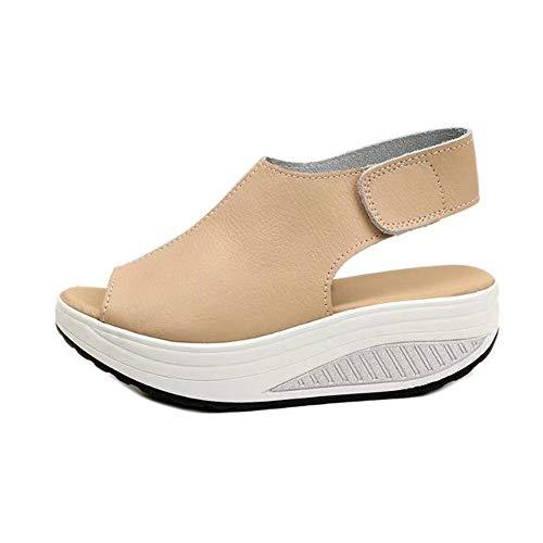 VECDY Damen Schuhe Sommer Sandalen Frauen Schütteln Sie Schuhe Sommer Sandalen Dicke Untere Absatzschuhe Freizeitschuhe Hausschuhe 35-43