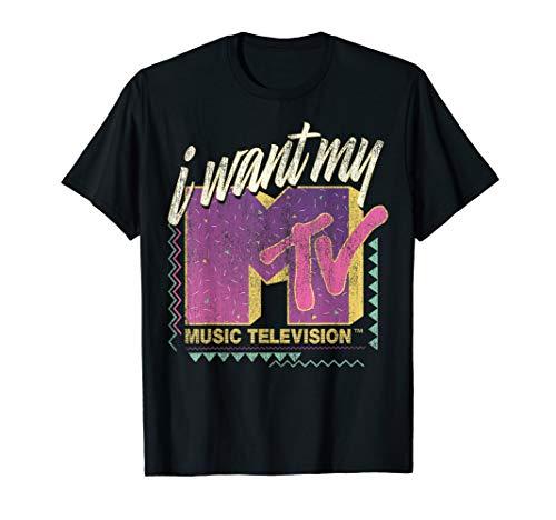 MTV I Want My MTV 90's Retro Colorful Logo Graphic T-Shirt