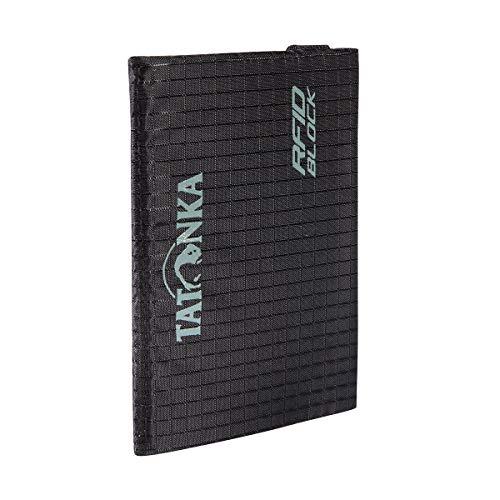 Tatonka Card Holder RFID B - Kreditkarten-Etui mit RFID Blockierung - TÜV geprüft - Passend für mindestens 4 Kreditkarten - Schützt vor Datendiebstahl - 9, 5 x 6 cm - schwarz
