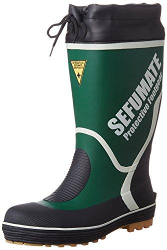 [フジテブクロ] 安全長靴 作業靴 筒太 反射材 カバー付 793 メンズ GREEN 26.5cm