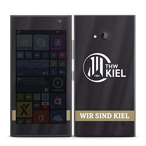 DeinDesign Folie kompatibel mit Nokia Lumia 730 Aufkleber Skin aus Vinyl-Folie Fanartikel THW Kiel Handball