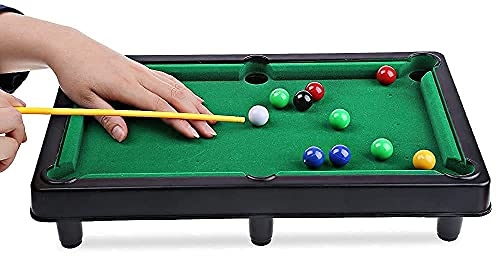 Verbier Snooker Game Table Top Pool Table Game, Billiard Table Set with Balls, Billiard Table for Children, Girls, Boys Indoor and Outdoor Game