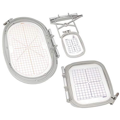 Sew Tech Stickrahmen-Set 3 in 1 für Bernina Stickmaschinen (50 x 72 mm/ 100 x 130 mm/ 145 x 255 mm)