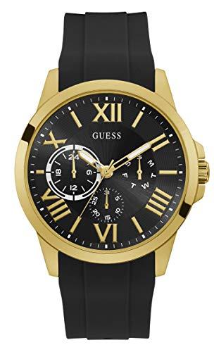 Reloj GUESS Hombre CRONOGRAFO, Caucho Negro, Acero Dorado