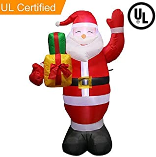 320a0c4cece1e Aparty4u 5FT Christmas Yard Inflatable Santa Claus with Gift Boxes for Blow  Up Yard Decorations