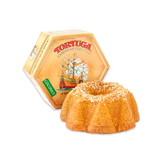 TORTUGA Caribbean Coconut Rum Cake - 16 oz Rum Cake - The Perfect Premium Gourmet Gift for Gift Baskets, Parties, Holidays, and Birthdays