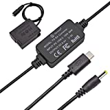 Gonine DMW-DCC8 DC Coupler and USB-C DMW-AC8 AC Power Adapter Set, Replace DMW-BLC12 Battery, for Panasonic Lumix DMC-FZ2500 FZ1000 FZ300 FZ200 G85 GX8 G7 G6 G5 GH2 DC-G90 G95 G99 Cameras.
