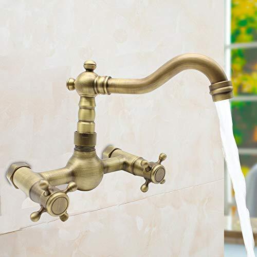 Grifo de latón para fregadero de ducha o baño, diseño retro