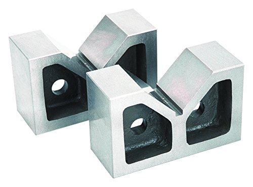 GROZ V-Block (Pair) | Cast Iron | 4-inch Length | 90° Vee | #03101