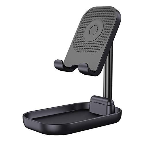 スマホスタンド タブレットスタンド 角度高さ調整可能 携帯スタンド 卓上スタンド スマホホルダー 折り畳み式 ipadスタンド iPhoneスタンド スマートフォン携帯電話スタンド iPhone/iPad/Android/Nintendo Switch/Kindleに対応 ブラック