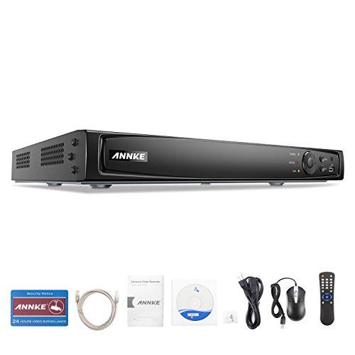 ANNKE Videoregistratore di rete NVR a 8 canali, da 6 MP, PoE, compatibile con ONVIF, funzione plug & play, supporta l'accesso remoto P2P