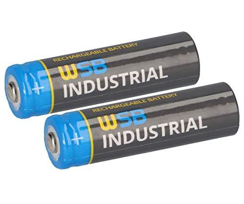 WSB 2er Spar Pack SOLAR Mignon AA Akkus wiederaufladbare Batterien 3,2V 1,92Wh LiFePo4 Hochleistungs- Akku Batterie speziell für Solarlampen Solar Lichterkette Solarleuchte Leuchte