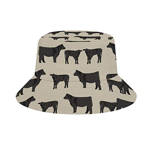 Bucket Hats Angus Cattle Animal Fashion Summer Travel Bucket para Mujeres y Hombres