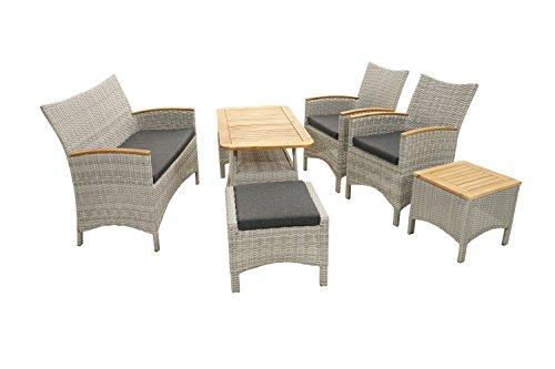 Ploß Ploß Outdoor furniture Vigo Lounge-Set, Grau-Natur, 378 x 275 x 314 cm