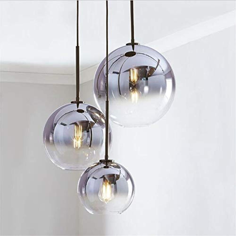 Xiadsk licht, Lampe, Laterne Loft Gold Glaskugel Moderne Pendelleuchte Silber Hngelampe Hngelampe Küche Leuchte Leuchte Esszimmer Wohnzimmer, 25 cm