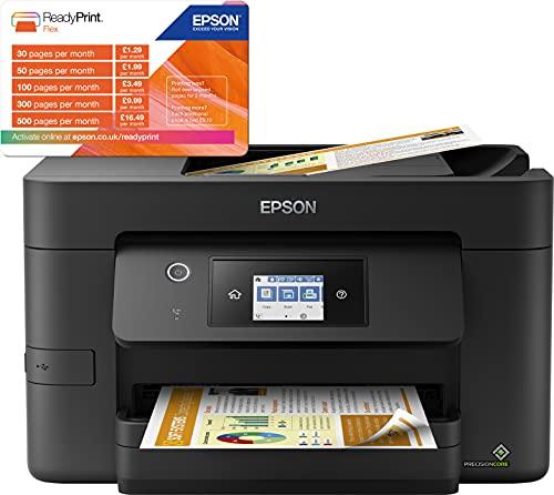 Epson WorkForce Pro | WF-3820DWF | Drucker für Chromebook | 4-in-1 Tintenstrahl-Multifunktionsgerät (Drucker, Scanner, Kopierer, Fax, ADF, WiFi, Ethernet, NFC, Duplex, Einzelpatronen, DIN A4) - 8