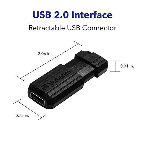 16GB Verbatim Store&Go PinStripe Black