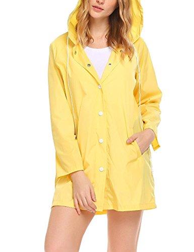 Chubasquero amarillo de Mujer Impermeable