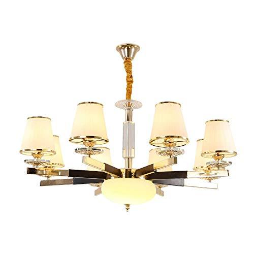 CSD Posmoderna LED araña de cristal de estilo europeo Sala Comedor Dormitorio lámpara de hierro