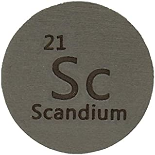 Sponsored Ad - Scandium (Sc) 24.26mm Metal Disc 99.9% Pure for Collection or Experiments