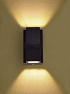 Improvhome Up Down Outdoor Led Wall Light IP65, Warm White (2x3W), Grey Aluminium Die Casting Body