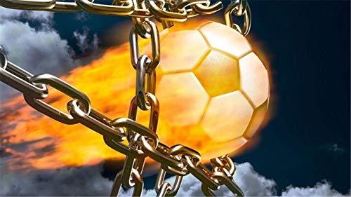 1000 Piezas De Rompecabezas Para Adultos Vista Previa De Fútbol Bola De Fuego Montaje De Madera Decoración Para El Hogar Juego De Juguetes Juguete Educativo Para Niños Y Adultos
