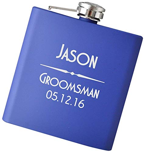 Custom Engraved Flask for Any Occasion - Your Choice of Colors, 6 oz Stainless Steel Flask Home Barware Hip Flasks