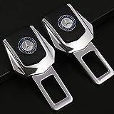 Guzetop 2Pcs Universal Alloy Car Safety Seat Belt Plug Clip Interior for Mercedes-Benz
