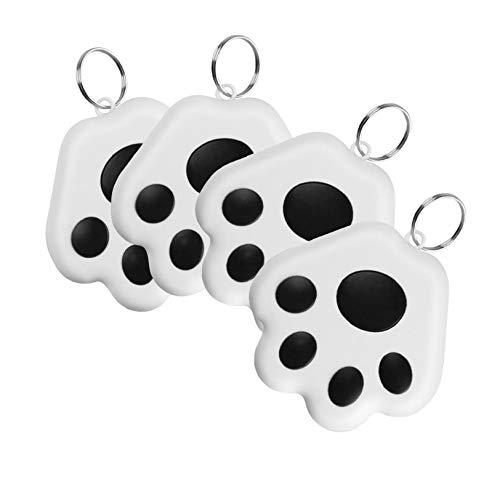 Soluoc GPS Tracker for Kids & pet cat Dog Position,Cute Dog Paw Portable Bluetooth Intelligent Anti-Lost Device Mini Antilost Waterproof Bluetooth Locator Accessories (4PC-Black)